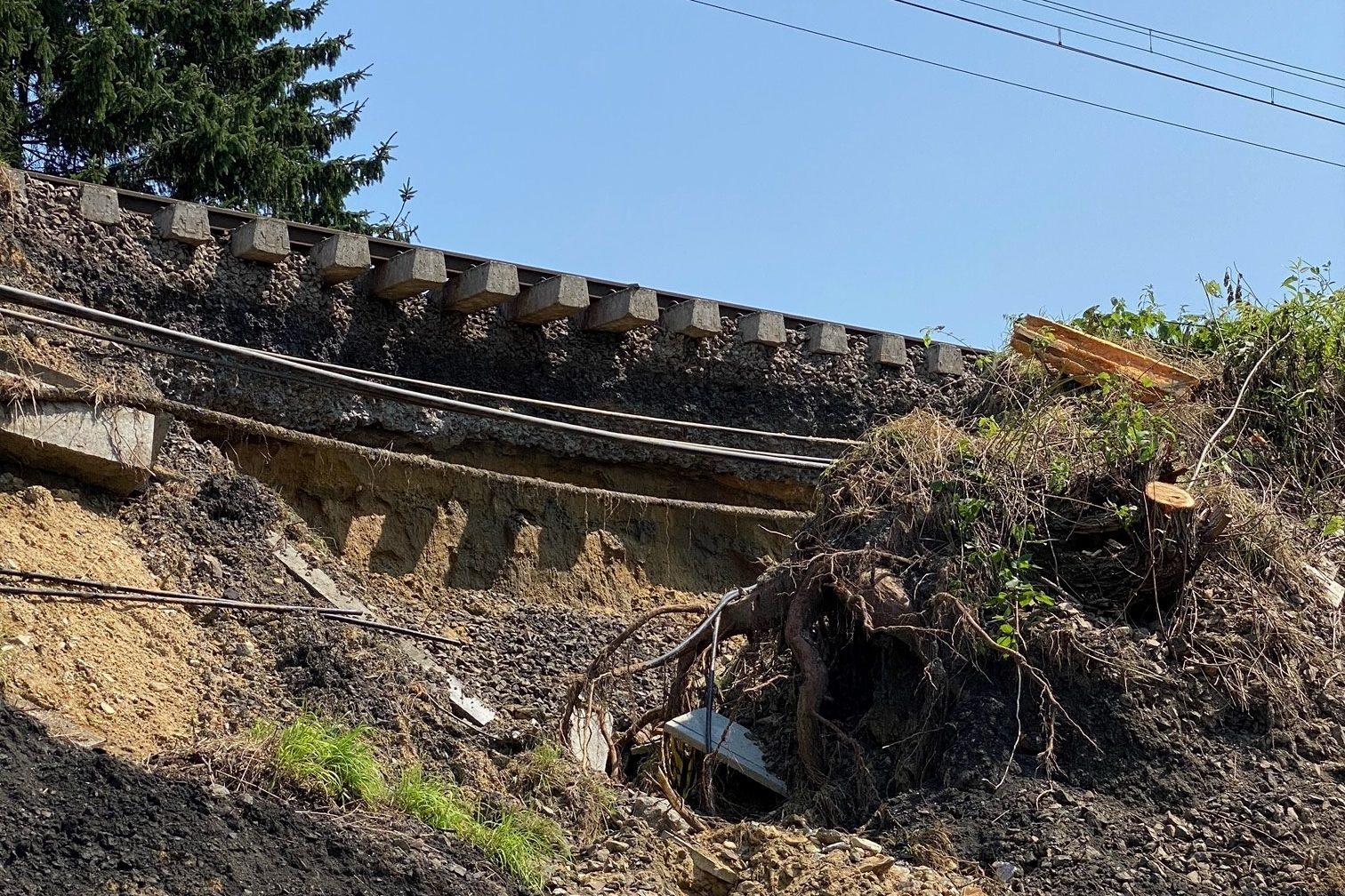 Stabilisatiewerkzaamheden aan de spoorlijn 161 Mont-Saint-Guibert