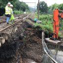 Herstel van de schade aan spoorlijnen is vorige week ingezet