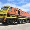 Een elektronische locomotief van Freightliner