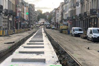 Taveirne voert tramwerken uit in Brussel